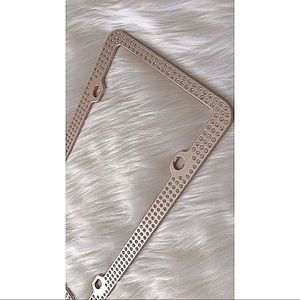 Other - Rose Gold Bling License Plate Frame | Used
